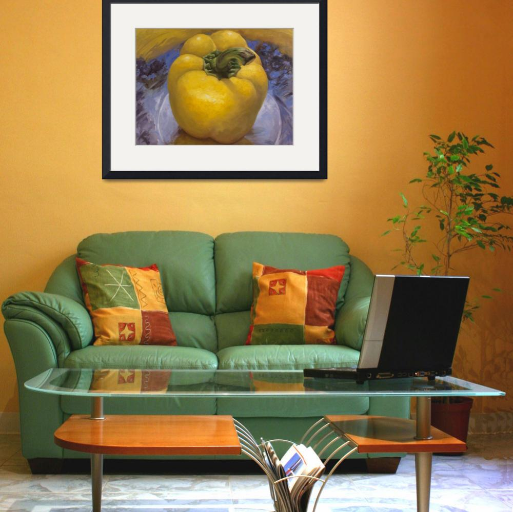 """""""Yellow Pepper&quot  (2011) by tinamalonis"""