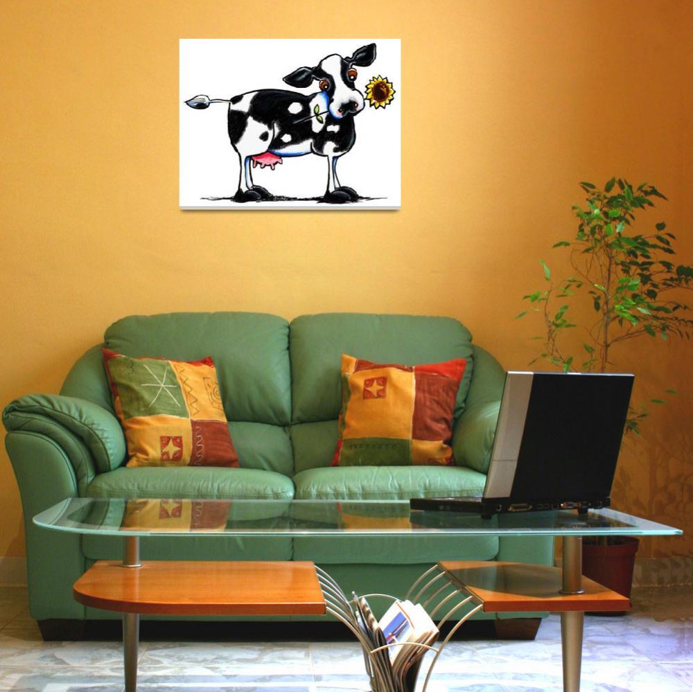 """Sunny Cow""  (2012) by OffLeashArt"