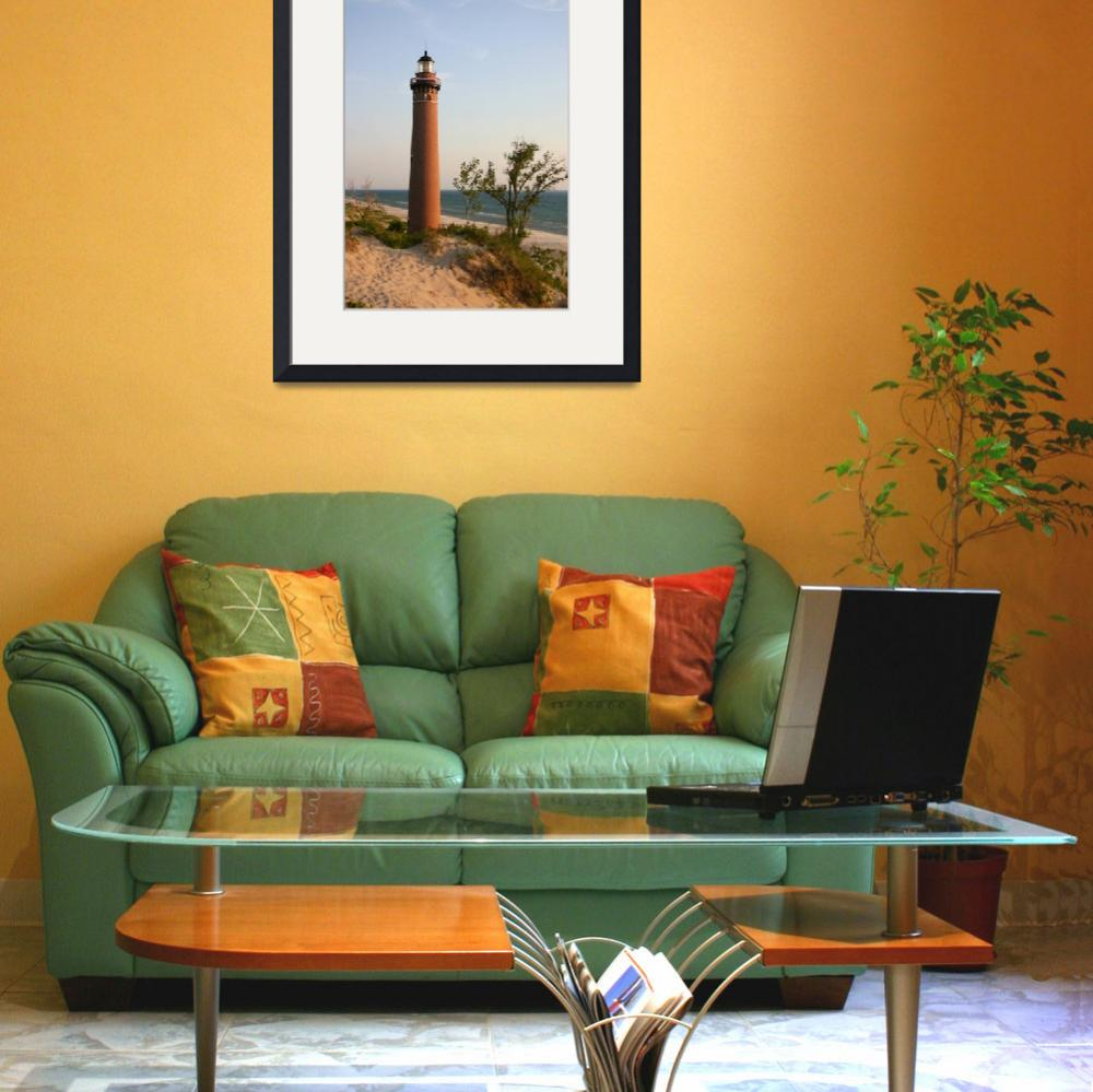"""""""Little Sable Point Lighthouse&quot  (2007) by luckhurstphotography"""