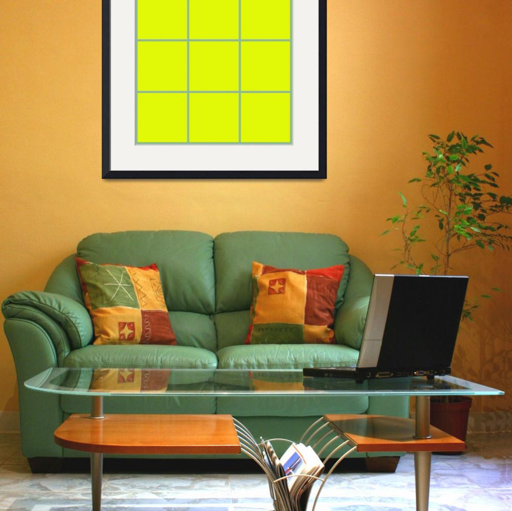 """""""Yellow Window 094 Canvas Contemporary Modern&quot  (2010) by Ricardos"""