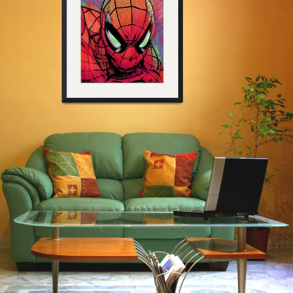 """""""Spider-Man Pop&quot  (2015) by RubinoFineArt"""
