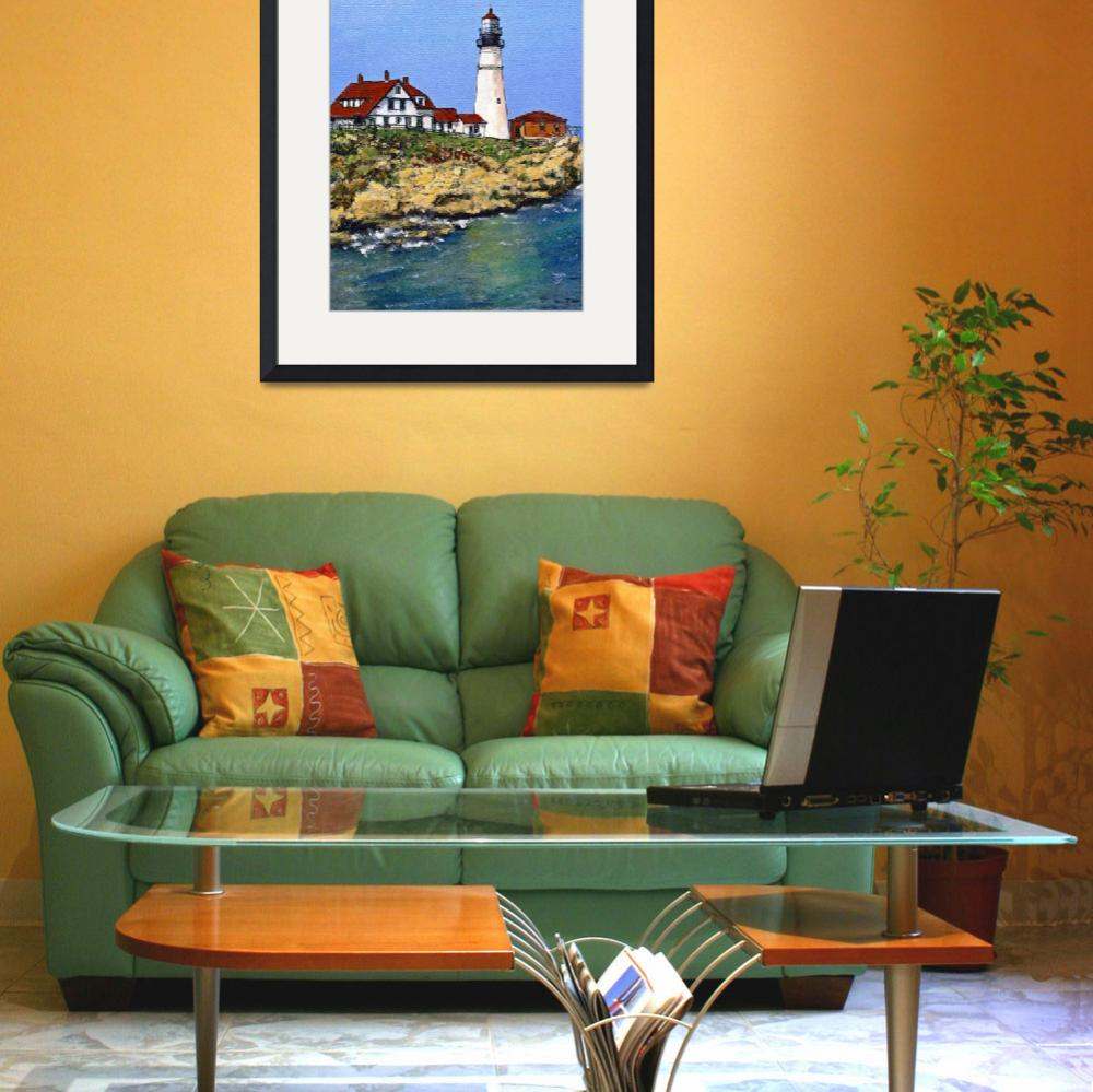 """""""Portland Maine Light House&quot  (2012) by randysprout2004"""