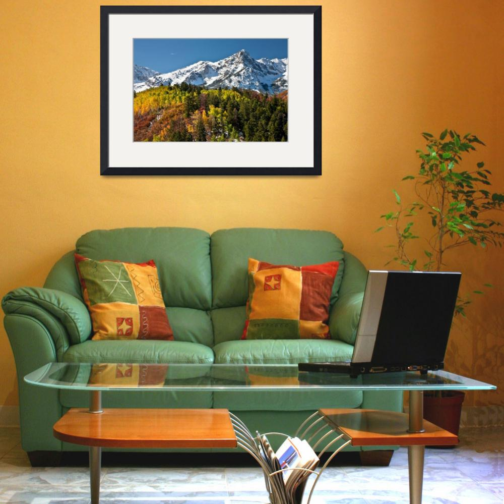 """""""ASPENS AND MOUNTAIN SNOW""""  (2011) by pbk"""