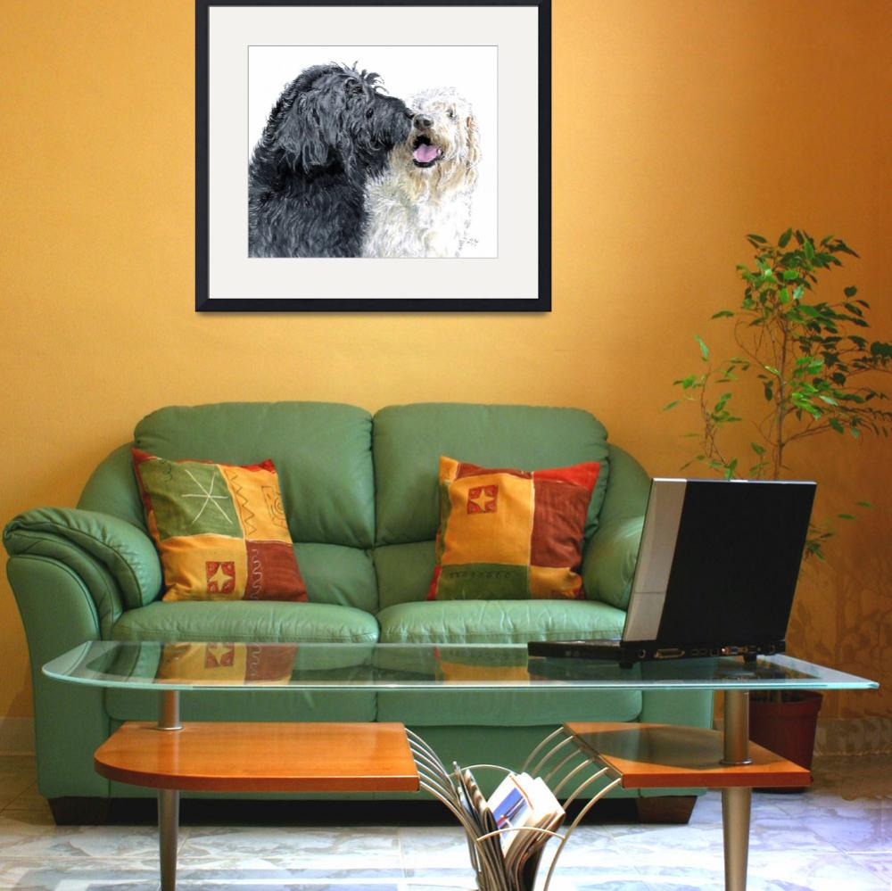 """""""Labradoodles in Love&quot  (2007) by mozache"""