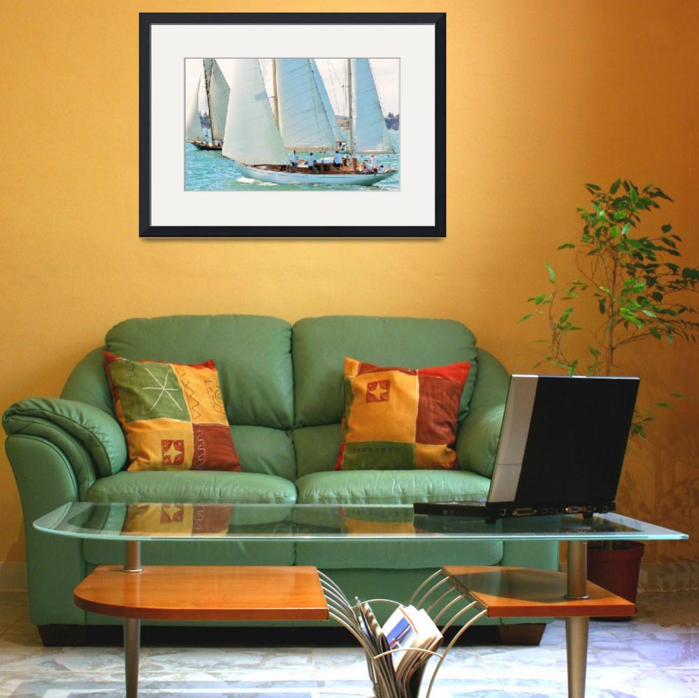 """""""Harbor Racing&quot  (2013) by monmoimages"""