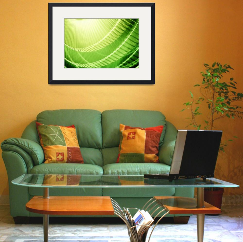 """Bright Lime Green Abstract Wall Art""  (2010) by NatalieKinnear"