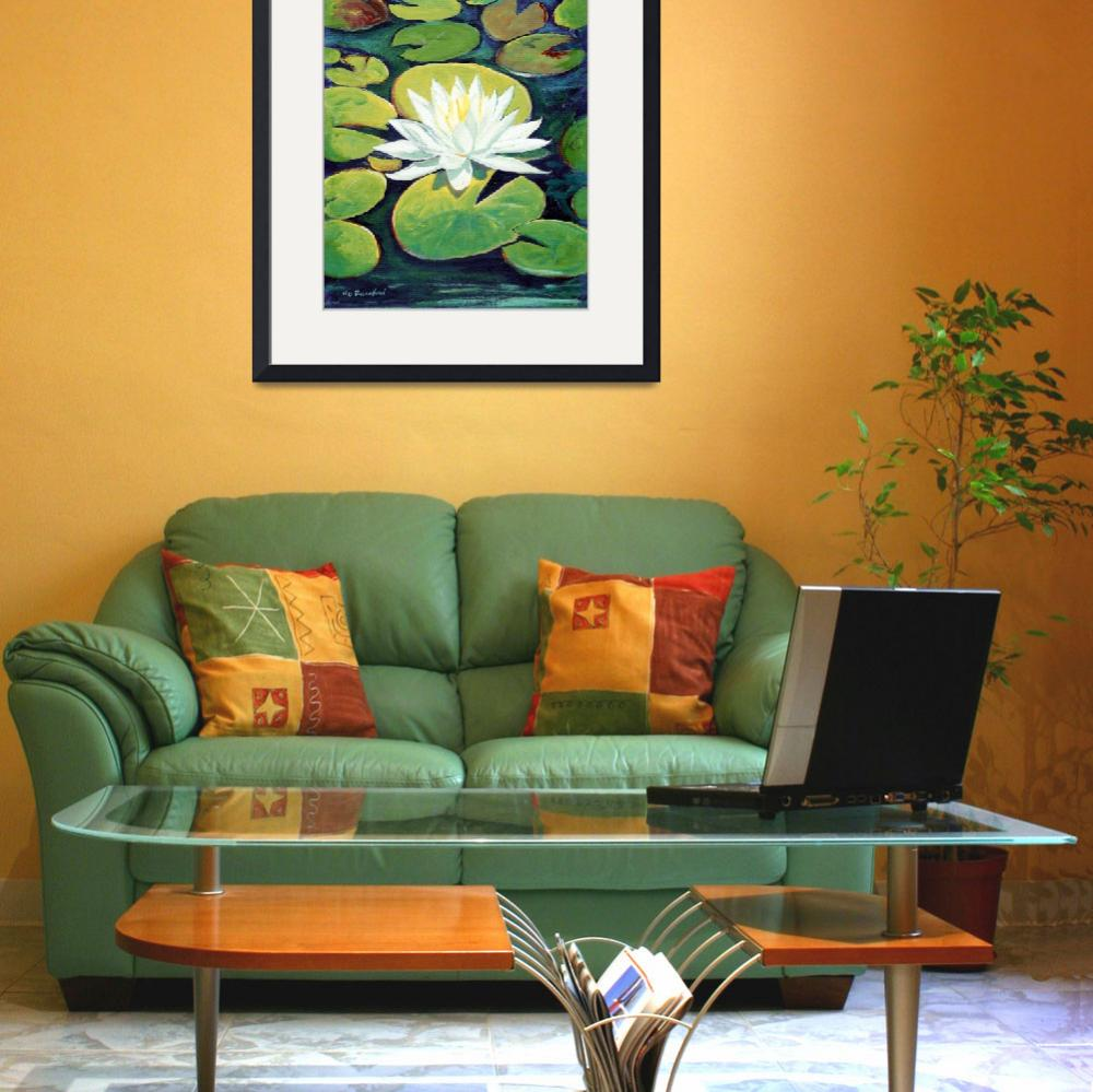 """""""Water Lily Flower painting by RD  Riccoboni™&quot  (2009) by RDRiccoboni"""