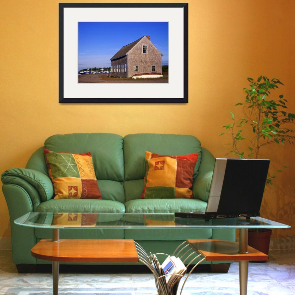 """""""Boat house on Chatham Harbor, Cape Cod&quot  (2007) by CapeLight"""