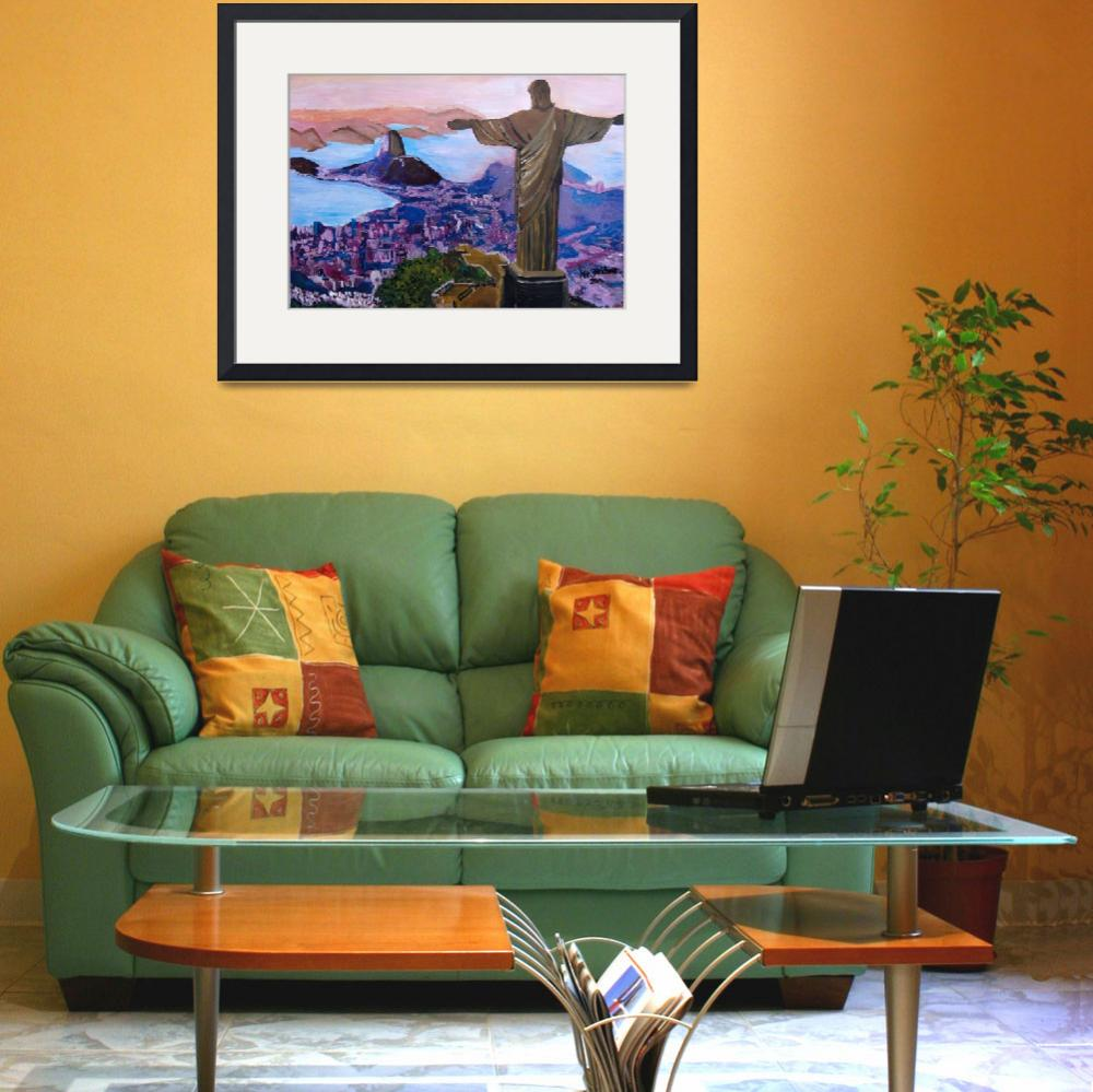 """""""Rio de Janeiro with Christ the Redeemer&quot  (2014) by arthop77"""