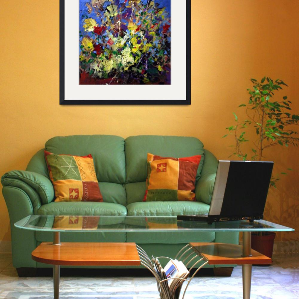 """""""Abstract Flowers Still Life&quot  (2001) by zampedroni"""