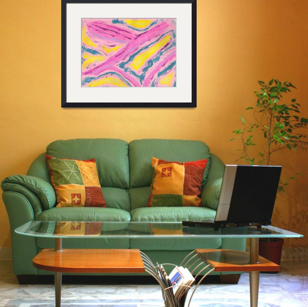 """""""Abstract in Pink Yellow Green&quot  (2008) by spiritualartist"""