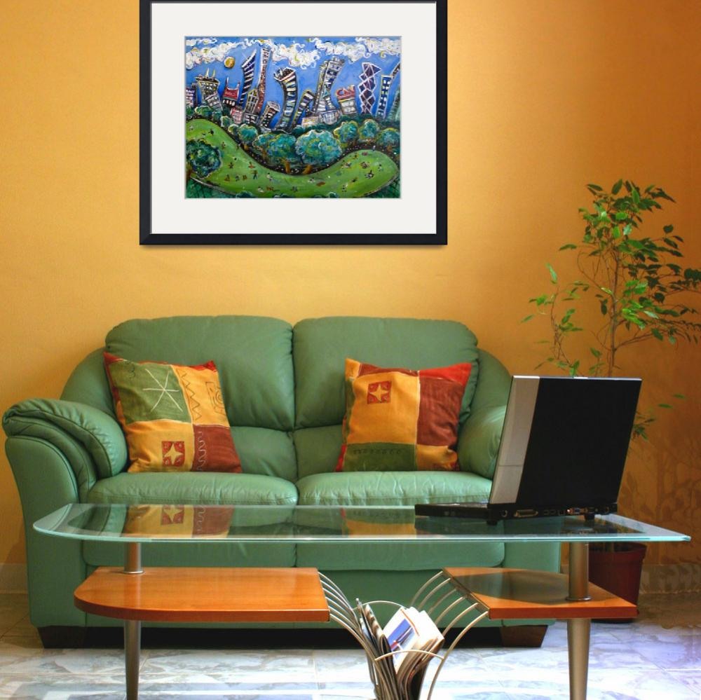 """""""Central Park South&quot  (2008) by jasongluskinart"""