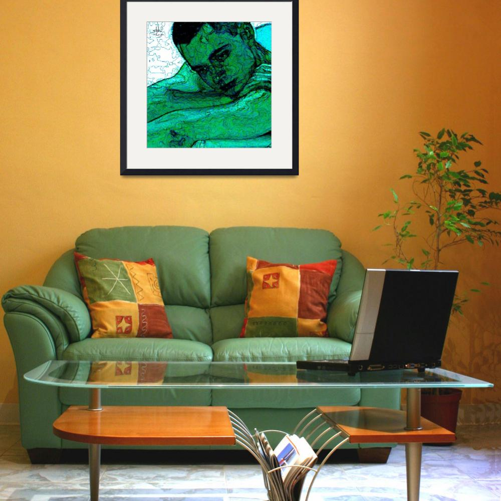 """""""Turquoise  Man""""  (2007) by Stephensfineart"""