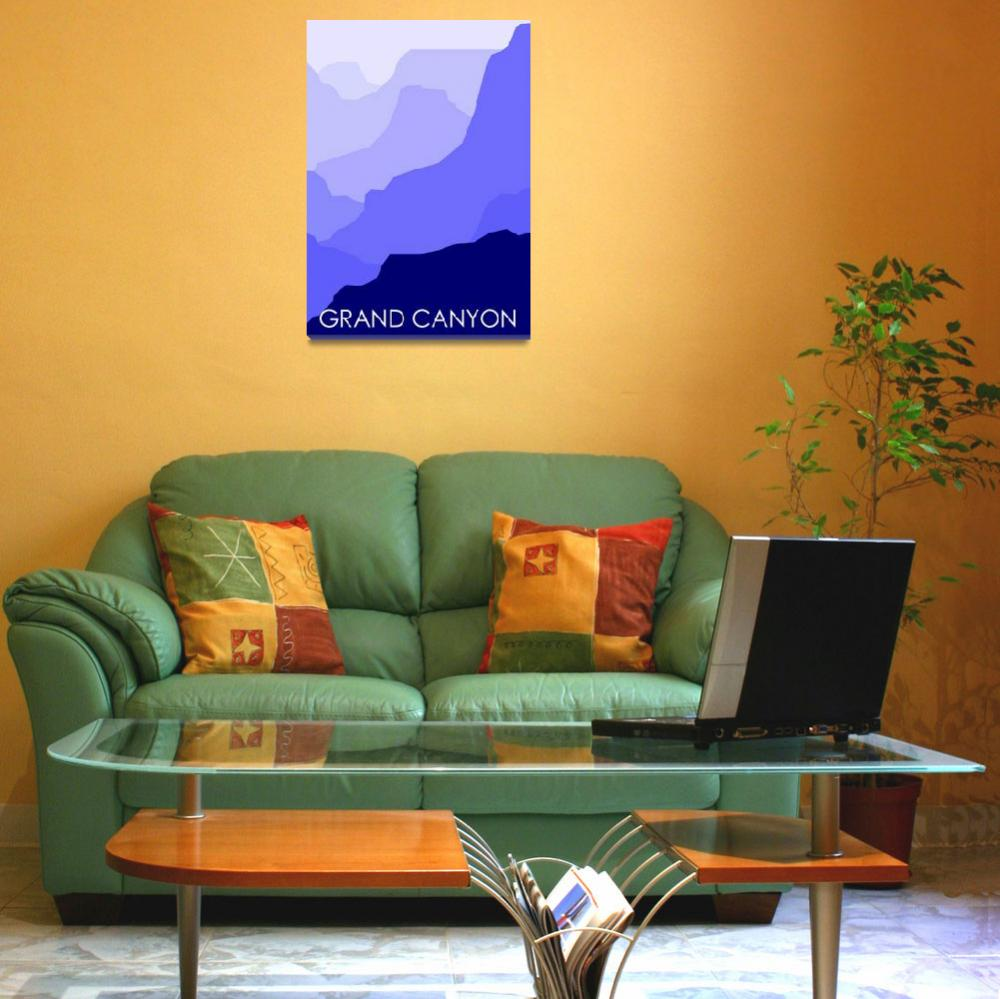 """""""Grand Canyon Blue - Text  Poster""""  by Lonvig"""