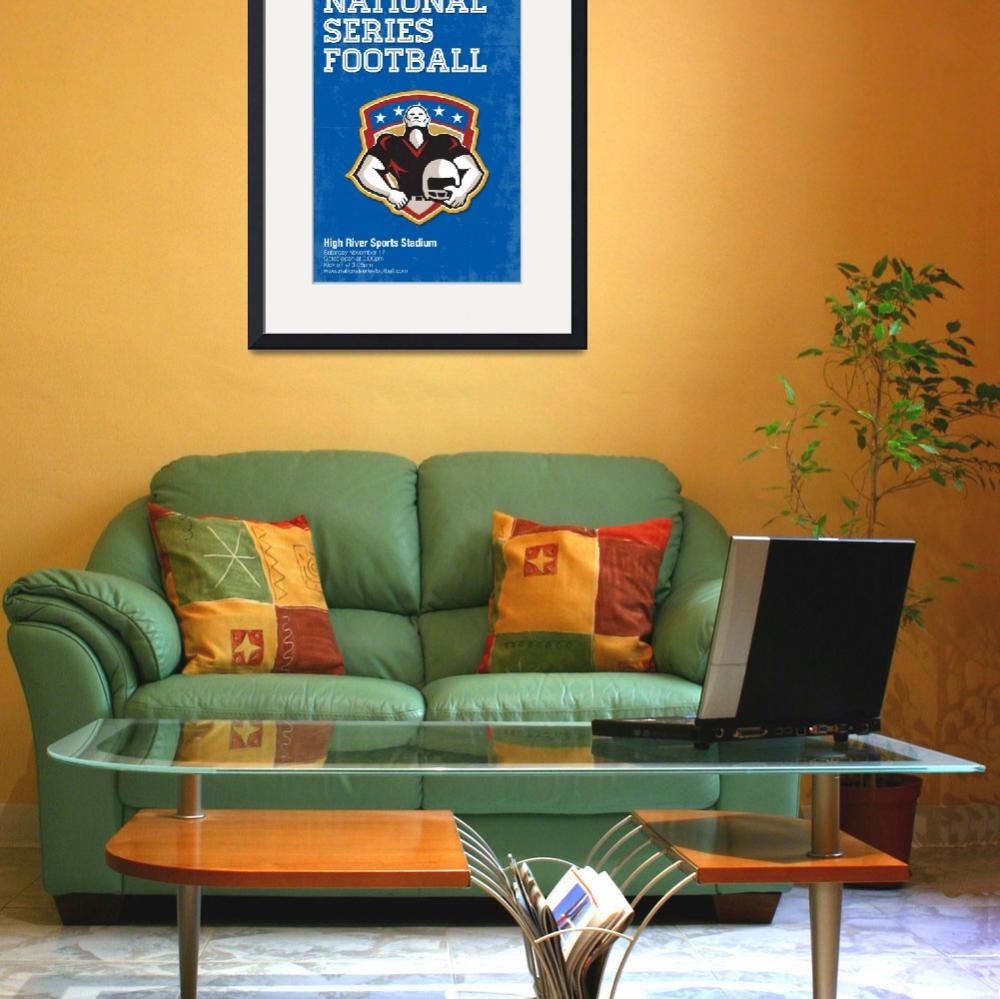 """American Football National Series Poster Art&quot  (2013) by patrimonio"