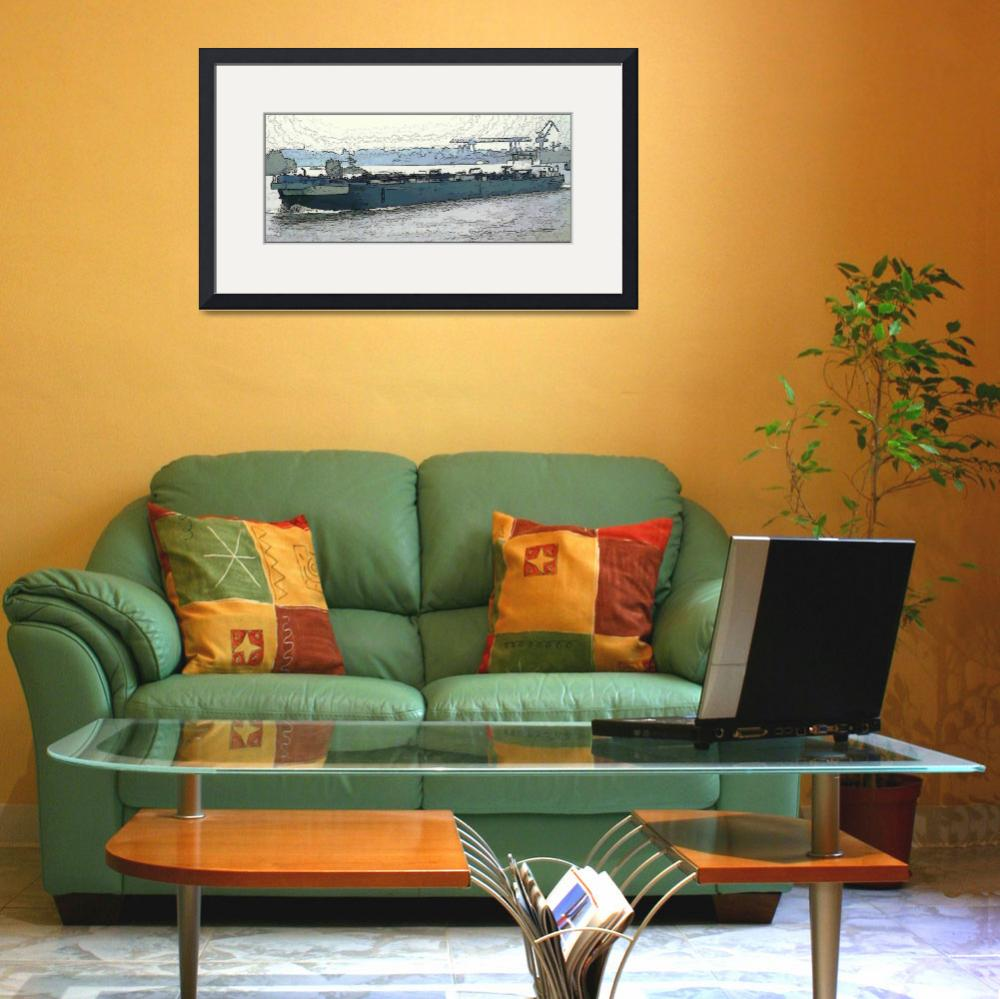 """""""Barge on the Rhine3&quot  (2009) by billbarber"""