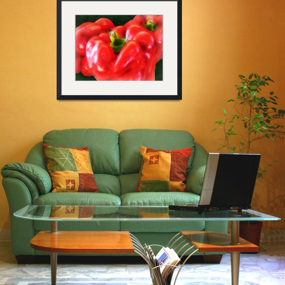 """Three Red Peppers""  (2012) by susansartgallery"