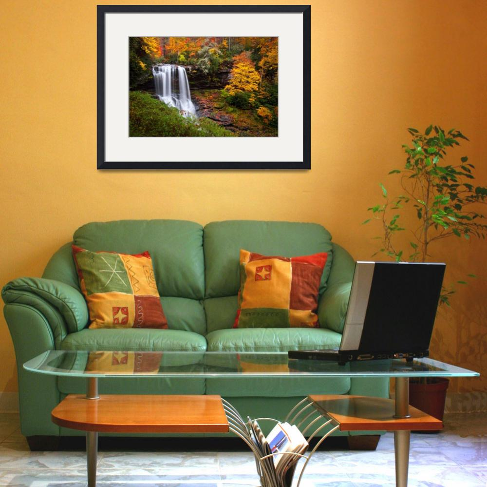 """""""Autumn at Dry Falls - Highlands NC Waterfalls&quot  (2011) by DAPhoto"""