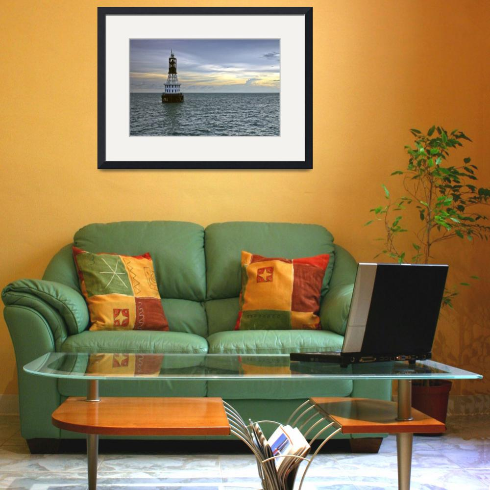 """""""Old One Fathom Bank Lighthouse, Straits of Malacca&quot  (2007) by mrosley"""