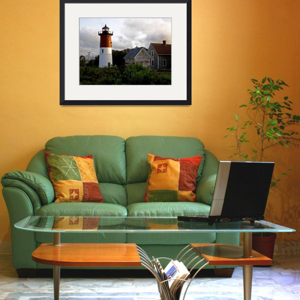 """""""Nauset Lighthouse - Eastham, Cape Cod&quot  (2009) by ChrisSeufert"""