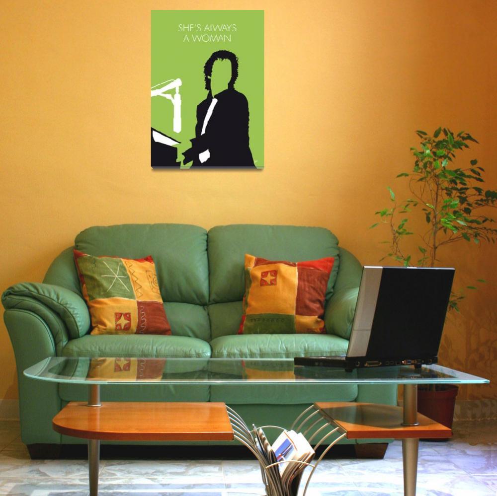 """""""No176 MY BILLY JOEL Minimal Music poster""""  by Chungkong"""