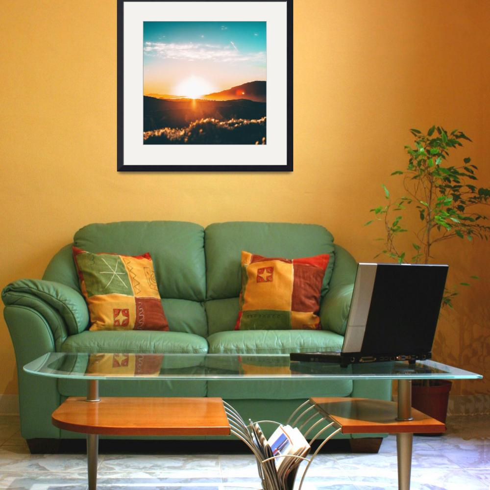 """Sunset Photo Framed Photo&quot  by LifeHack"