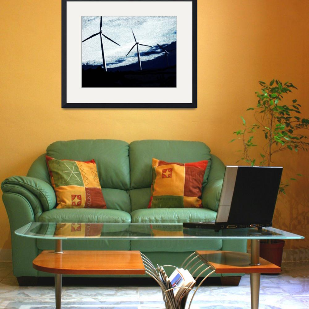 """""""Wind mills&quot  (2010) by SimplyArty"""
