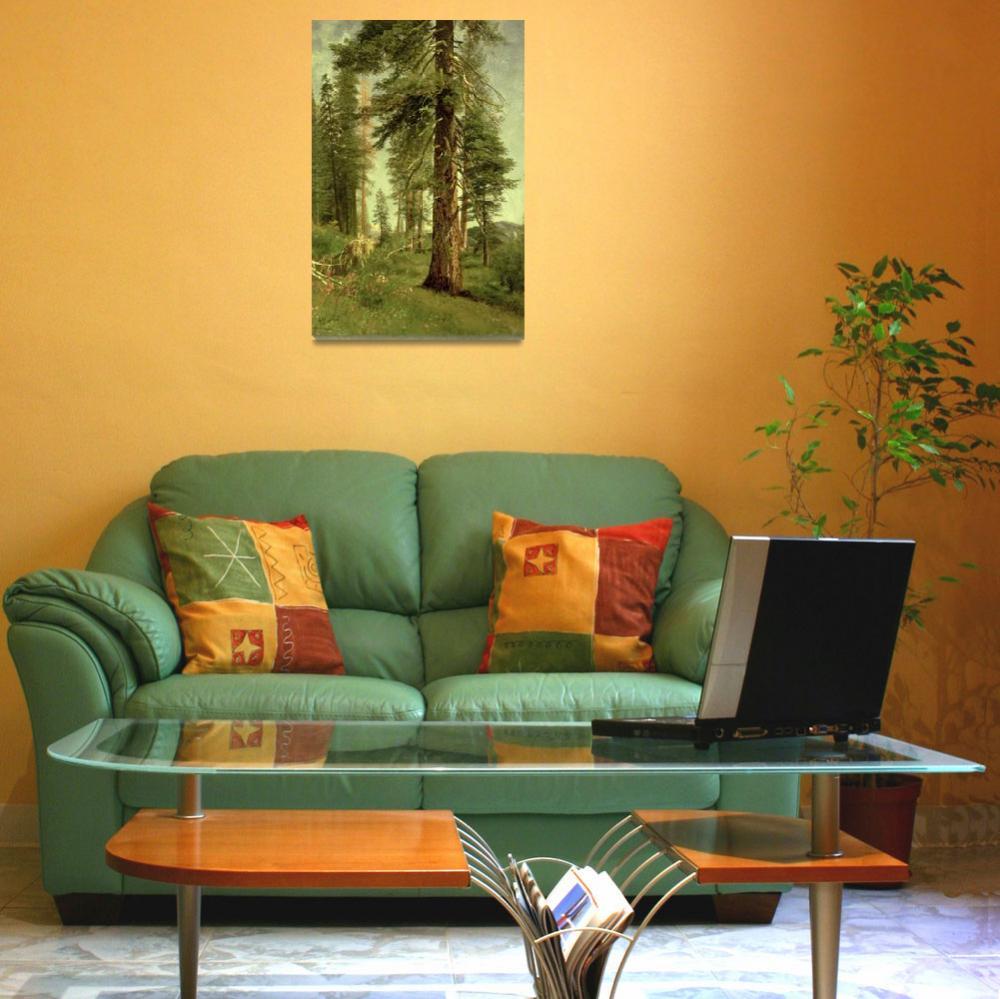 """California Redwoods, by Albert Bierstadt""  by fineartmasters"