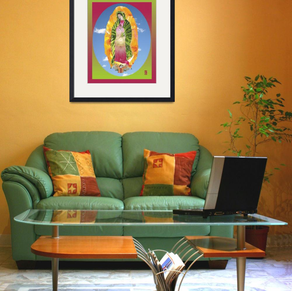 """""""Mary of Guadalupe III&quot  (2011) by jgwhitney"""