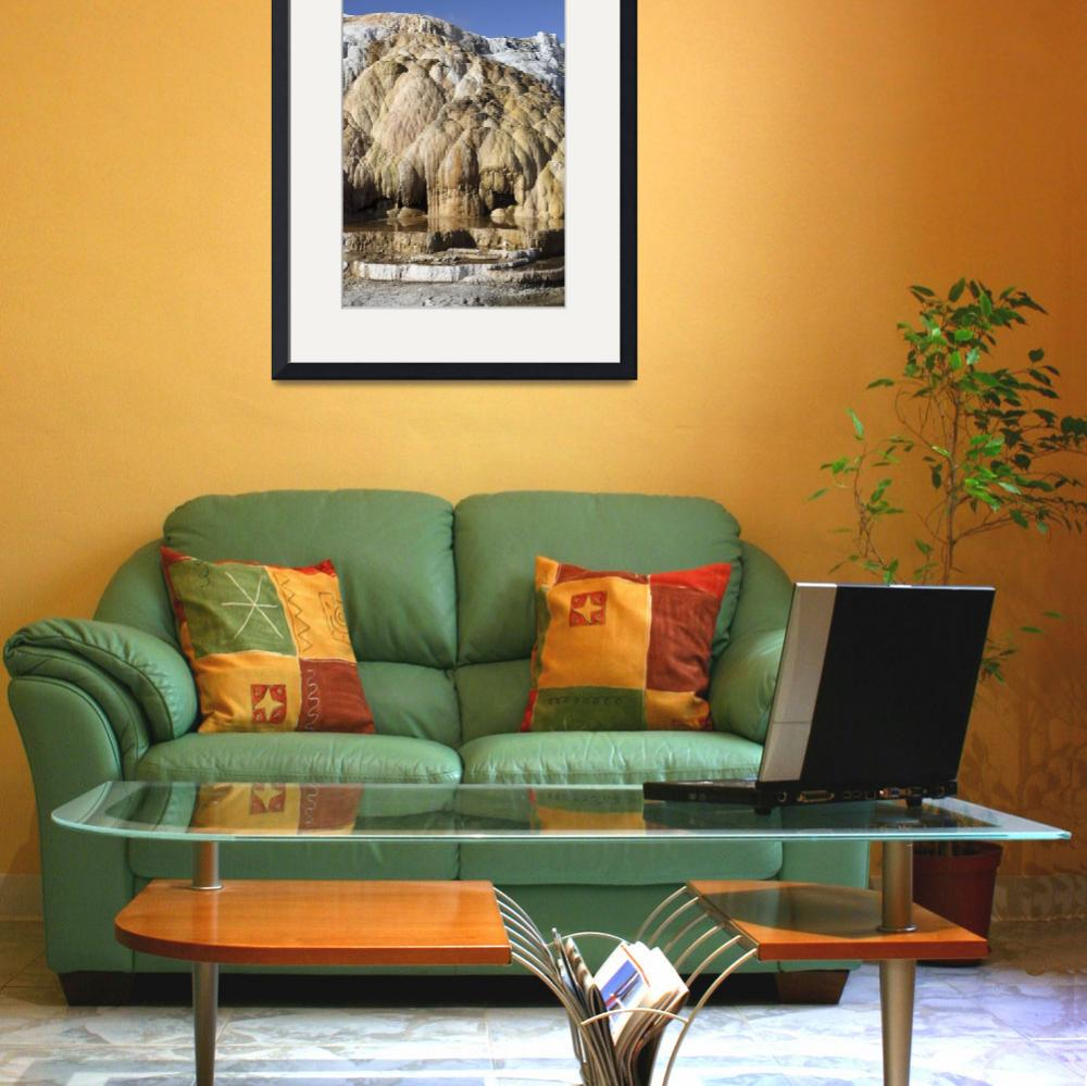 """""""Cleopatra Terrace, Mammoth Hot Springs geothermal&quot  by stocktrekimages"""
