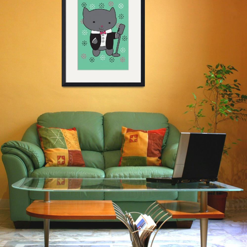 """Lounge Singer Cat&quot  (2013) by ValeriesGallery"
