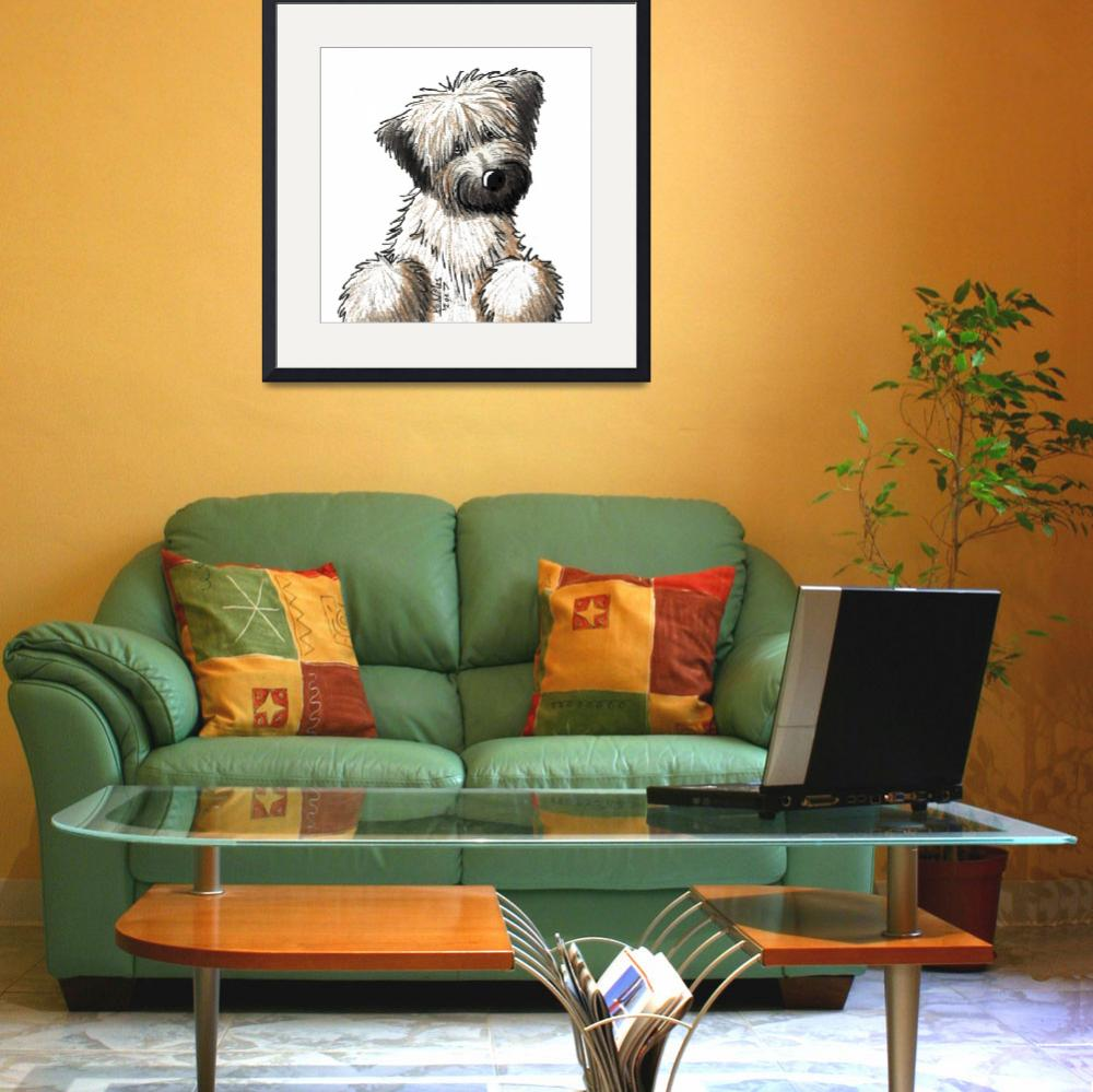 """""""Soft Coated Wheaten Terrier&quot  (2007) by KiniArt"""