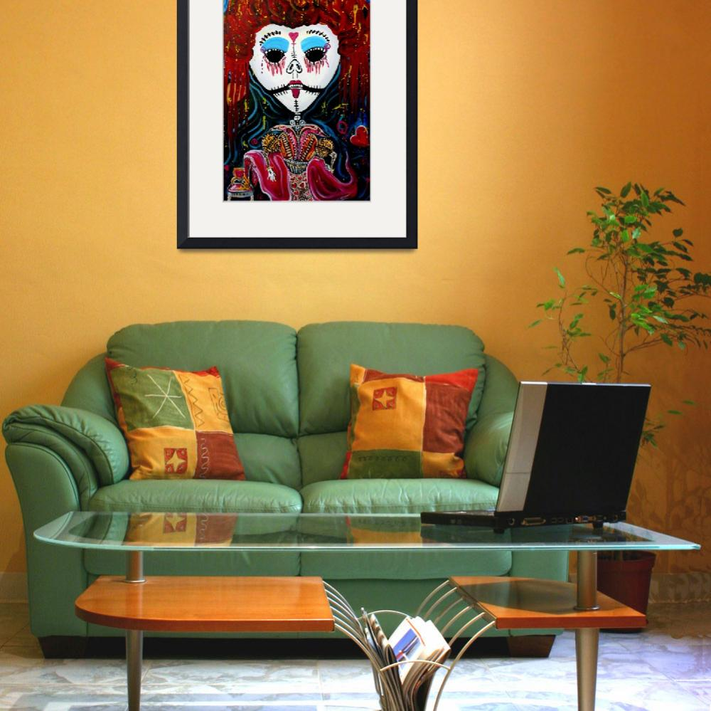 """""""Red Qween&quot  (2012) by ArtPrints"""
