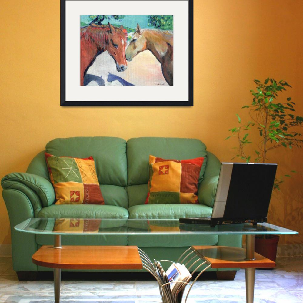 """""""Horses Jake and Duster&quot  (2011) by RDRiccoboni"""