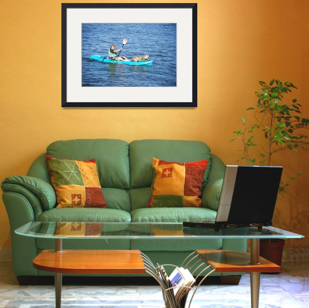 """""""DOG In Kayak&quot  by barbsummering"""