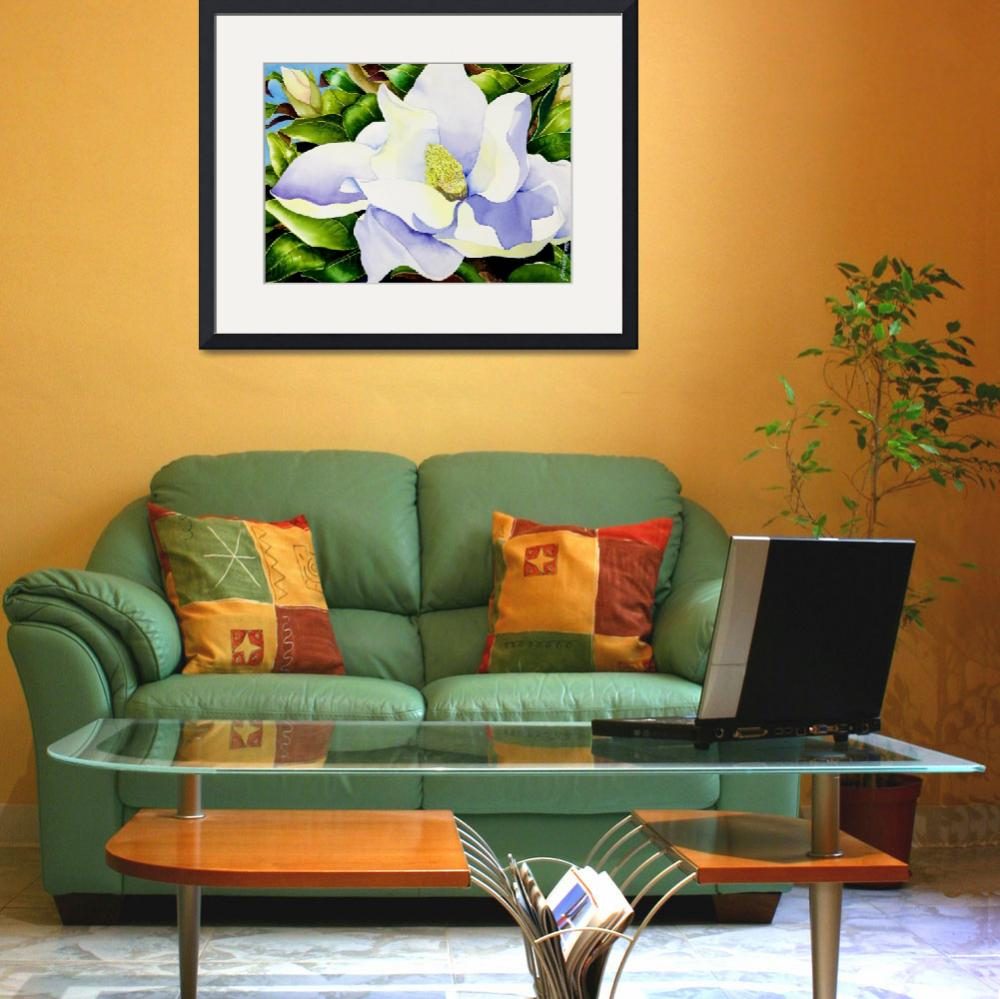 """""""Magnolia in Leaves&quot  (2009) by janlan44"""