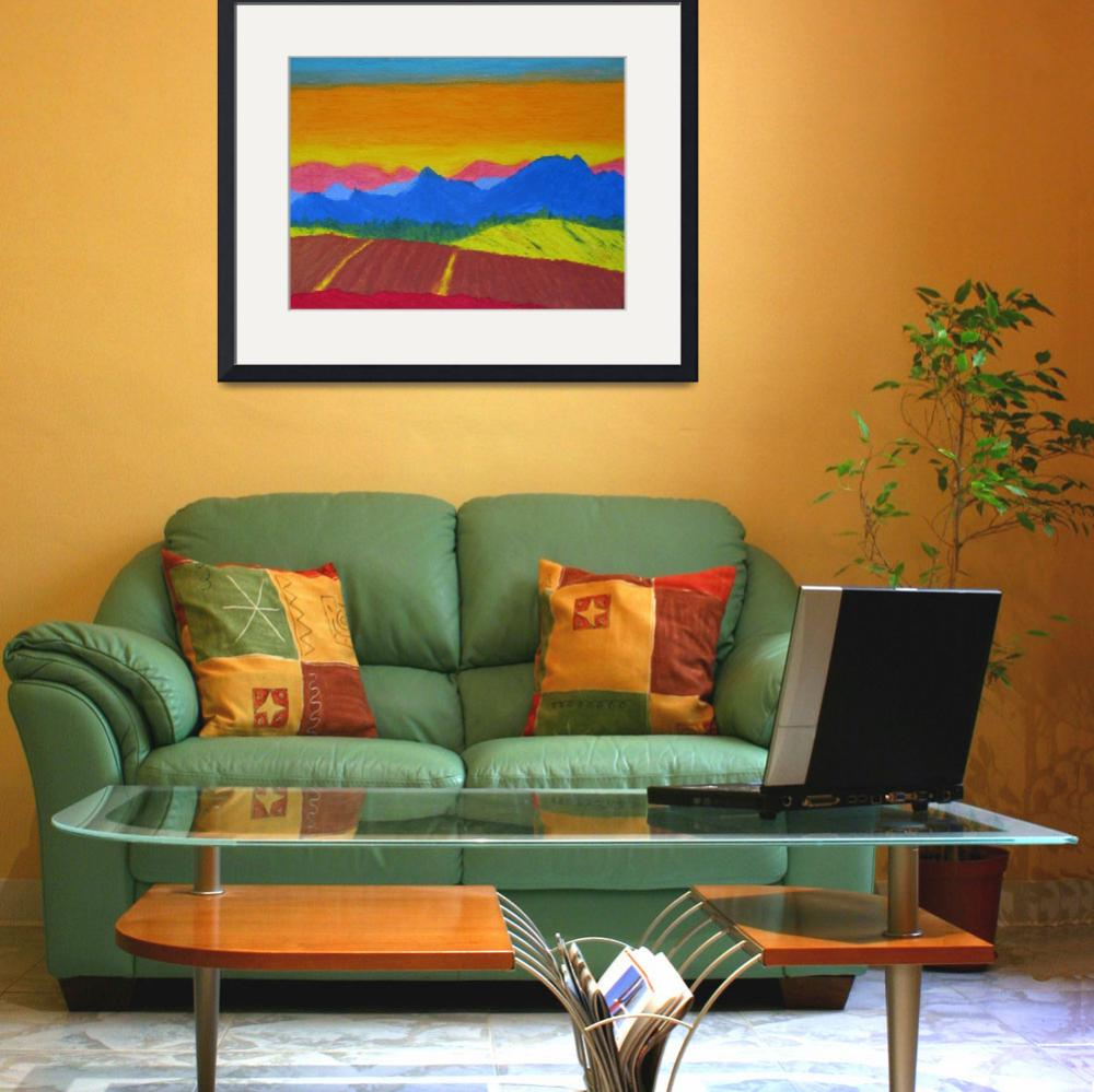 """""""Mountains in pastel&quot  (2005) by Cocasse"""
