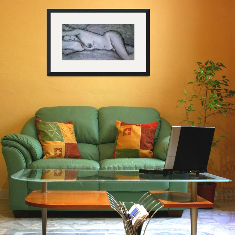 """""""Reclining Nude&quot  (2008) by dianedaversa"""