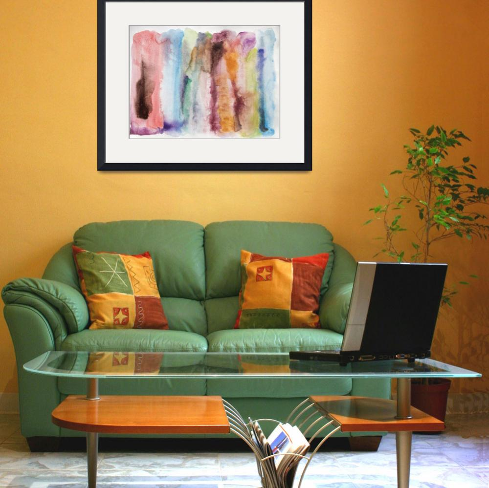"""""""Colorful Watercolor Abstract""""  by Aneri"""