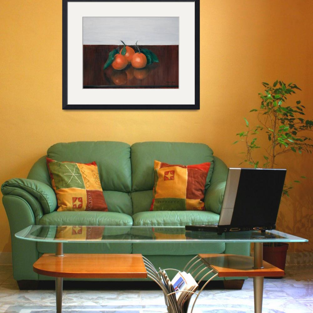 """Three Satsumas on Table&quot  (2012) by JohnSmallStudios"