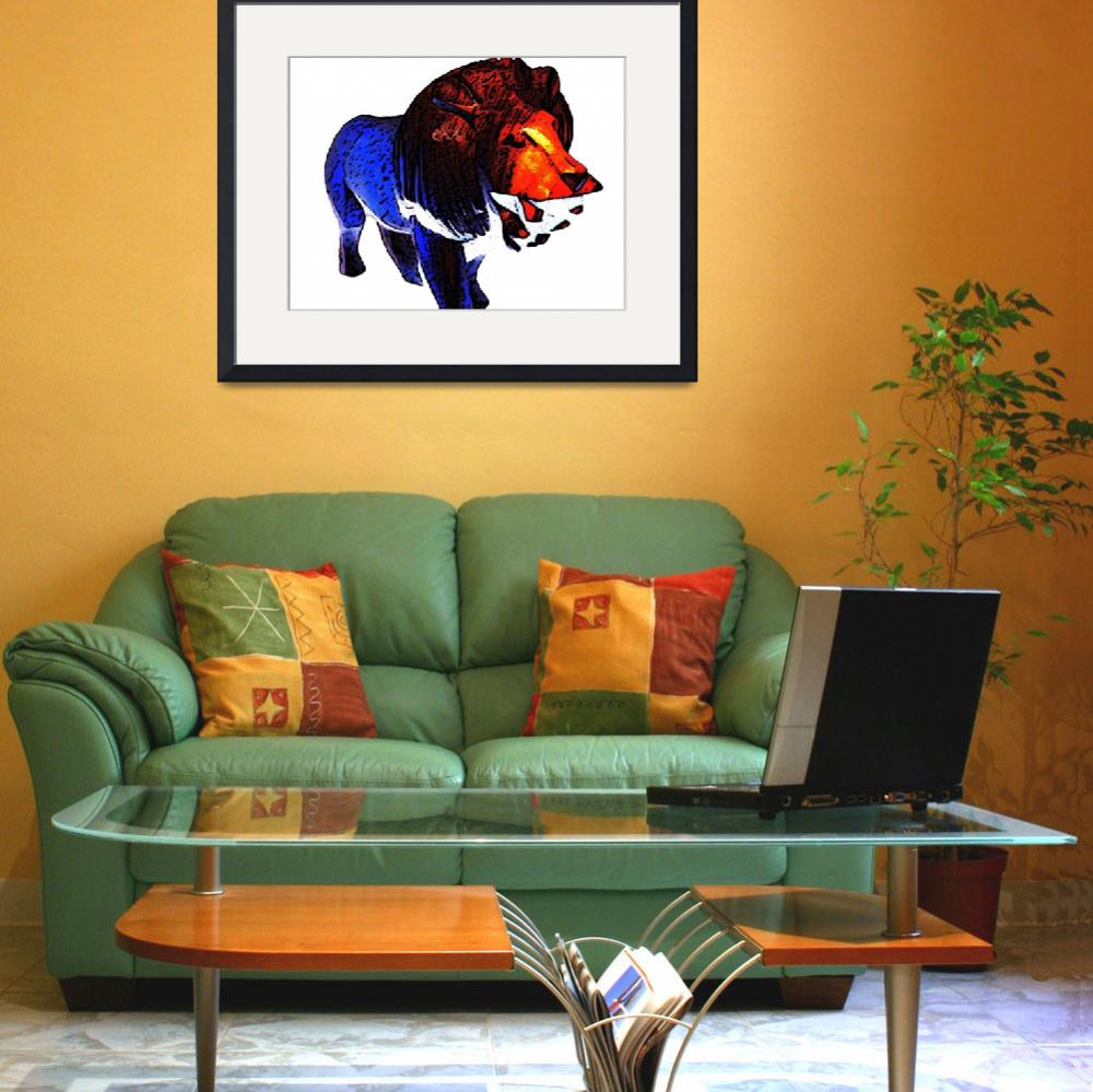 """Lion with Color 2&quot  (2010) by DavidGal"