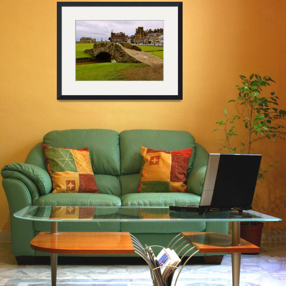"""""""St. Andrews Links Golf Course Swilcan Bridge 18th&quot  (2004) by Richimage"""