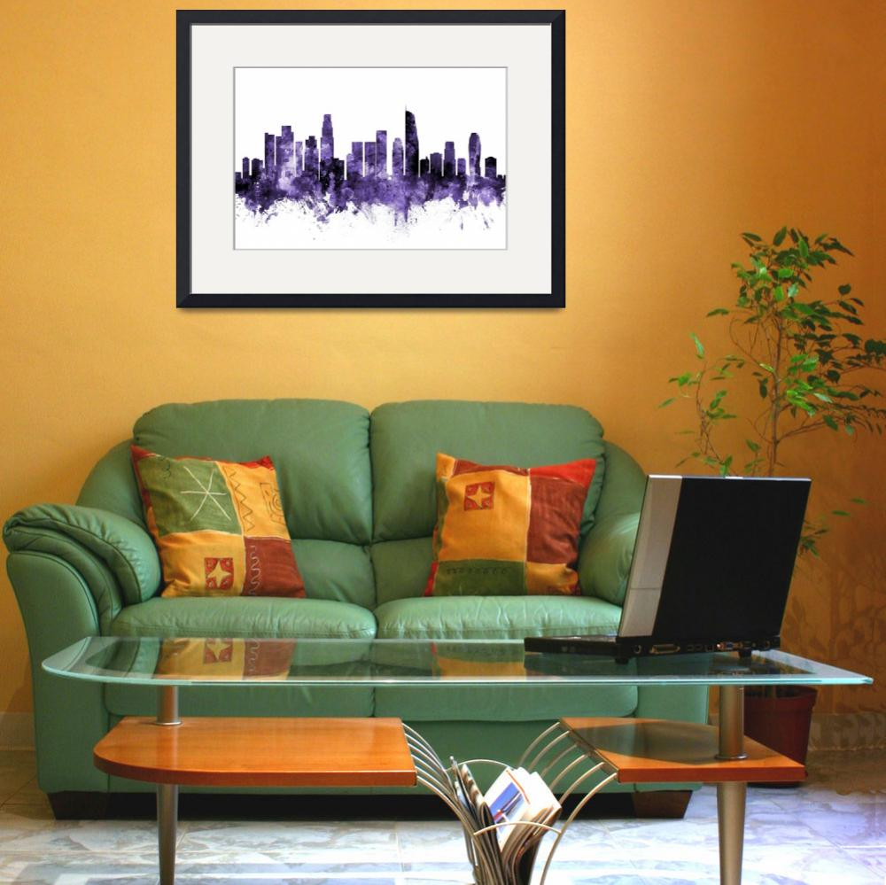 """Los Angeles California Skyline&quot  (2018) by ModernArtPrints"