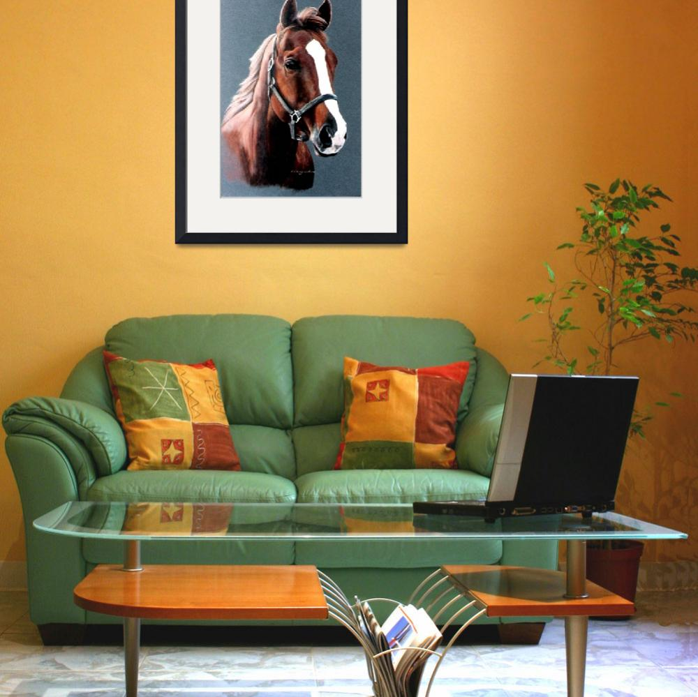 """""""SORREL HORSE painting&quot  by AnimalsbyDiDi"""