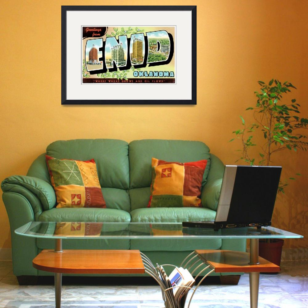 """Enid OK Large Letter Postcard Greetings&quot  by ArtLoversOnline"