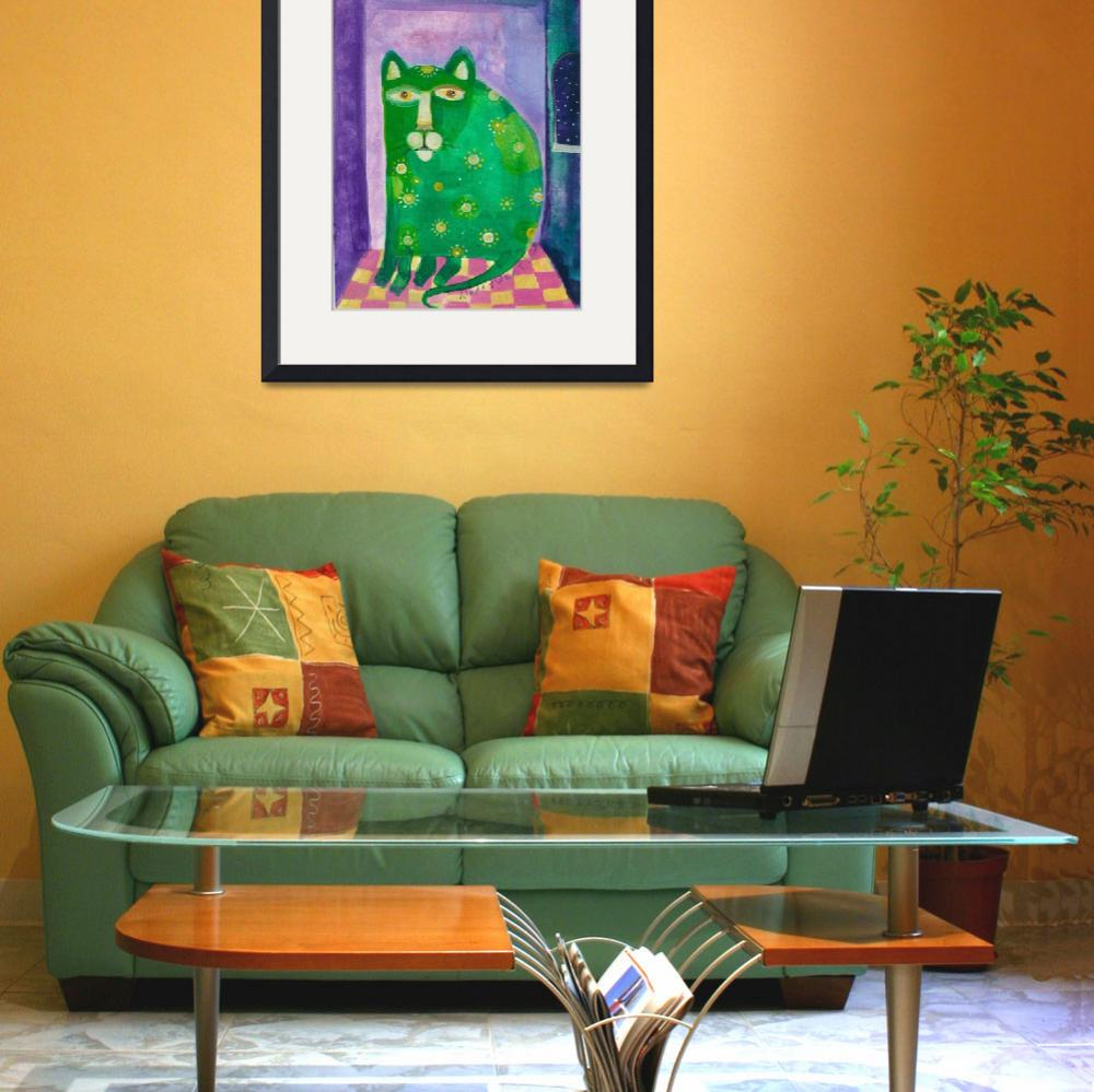 """""""Big Cat in a Small Room&quot  (2002) by artistalley"""