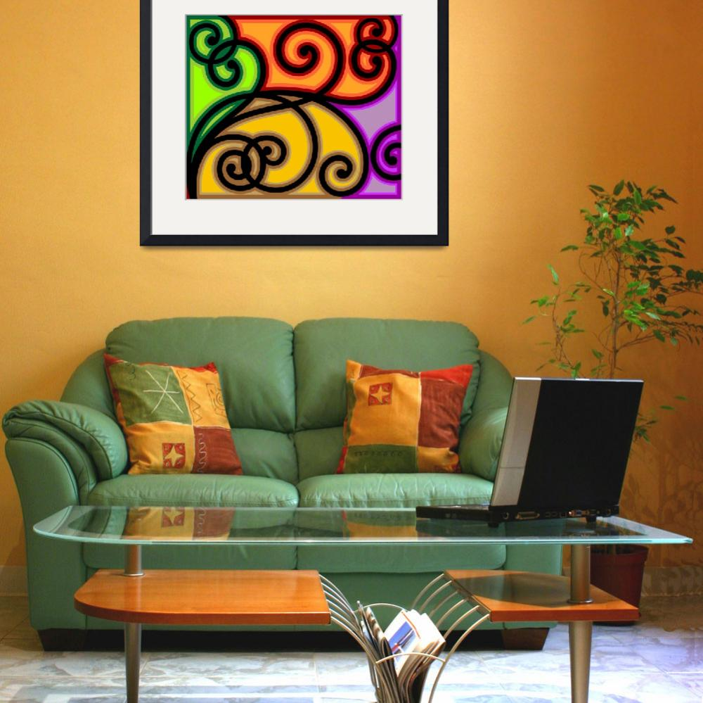 """""""Digital painting of floral design&quot  (2009) by digitalpainting"""