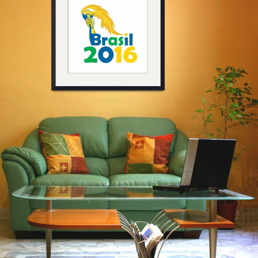"""Brasil 2016 Summer Games Athlete Hand Torch&quot  (2015) by patrimonio"
