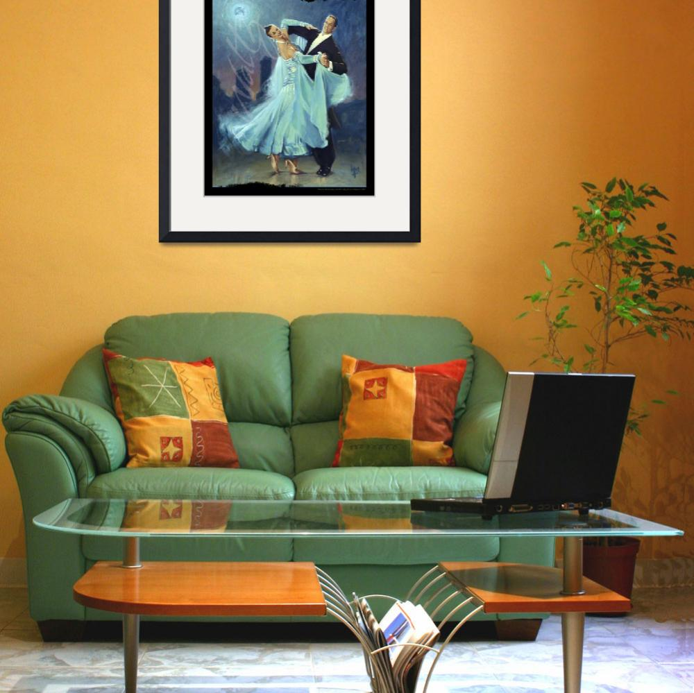 """""""Waltz In a Blue Moon Small Poster&quot  by lmstudio"""