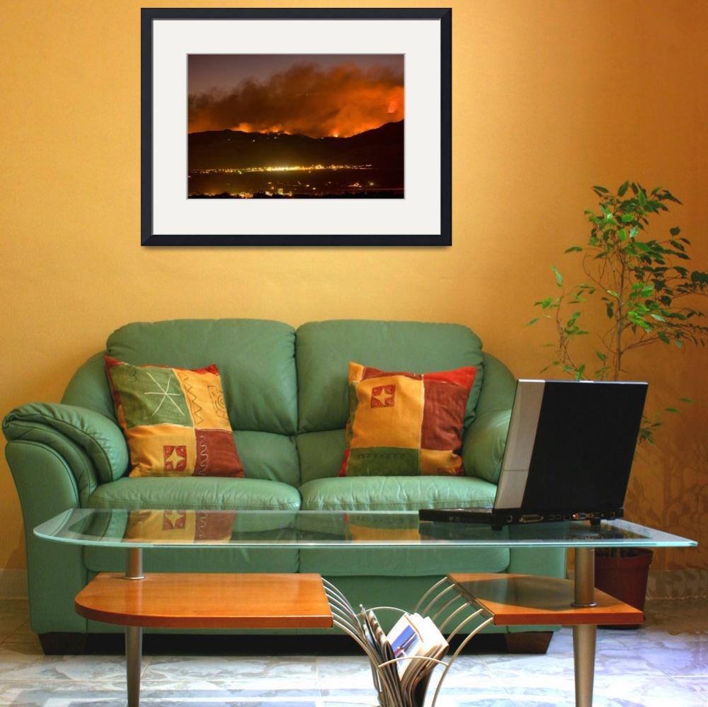 """""""North Boulder Colorado Fire Above in the Hills&quot  (2010) by lightningman"""